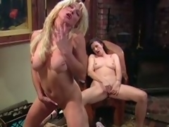 Big tittied MILFs masturbate make sure of a piano task